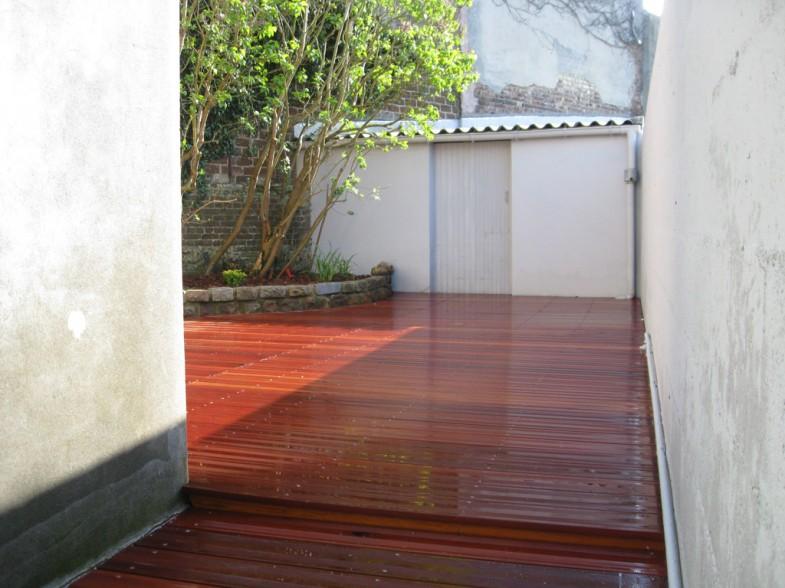 Après intervention, terrasse bois