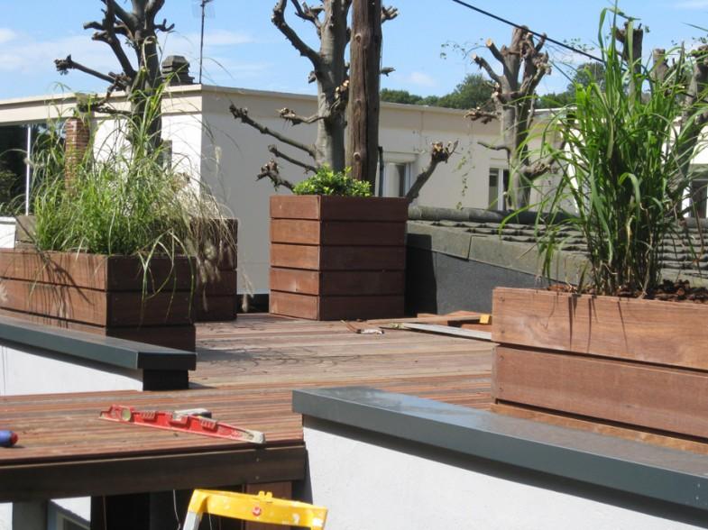 Bacs sur toit terrasse