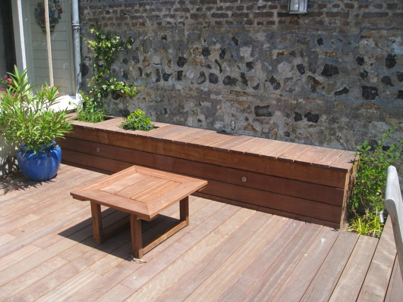 Banc et table basse