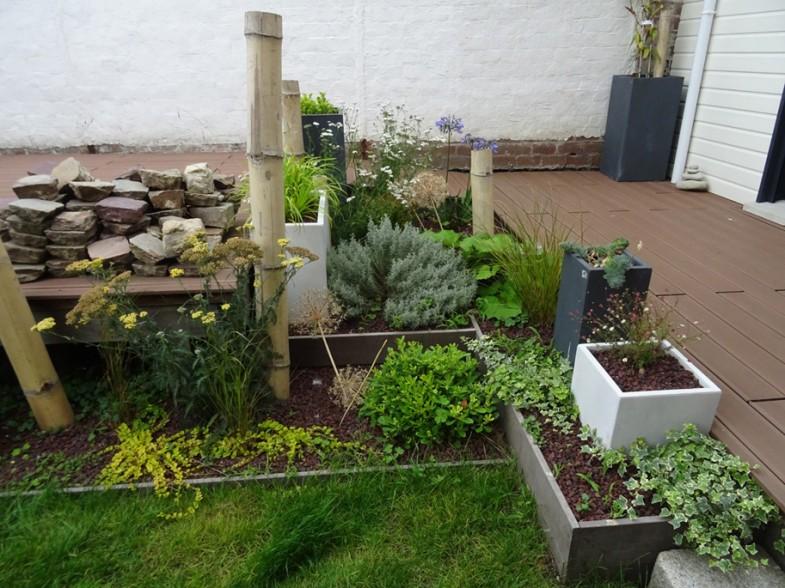 Plantation avec bacs